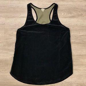 Olive & Black Silk Wilfred Tank